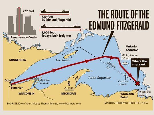 41 years ago Edmund Fitzgerald sank in Lake Superior Edmund