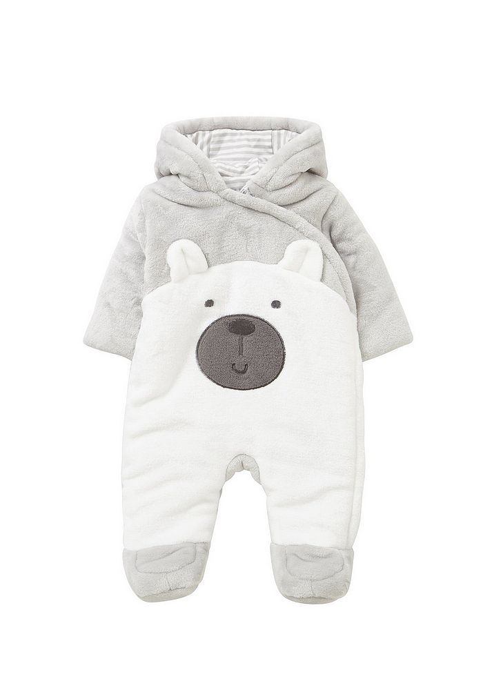 8be10f3b4c3f Tesco direct  F F Bear Face Fleece Pramsuit