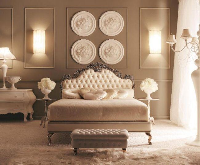 wohnideen für schlafzimmer luxus creme romantisch ambiente | girl ...