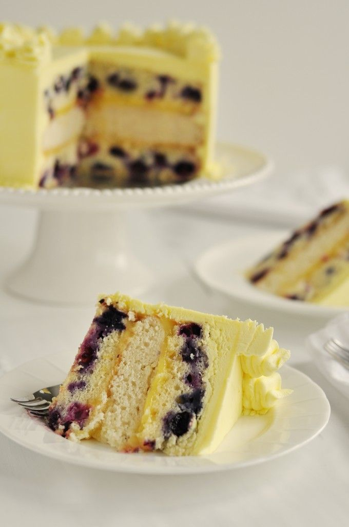Triple Lemon Blueberry Layer Cake