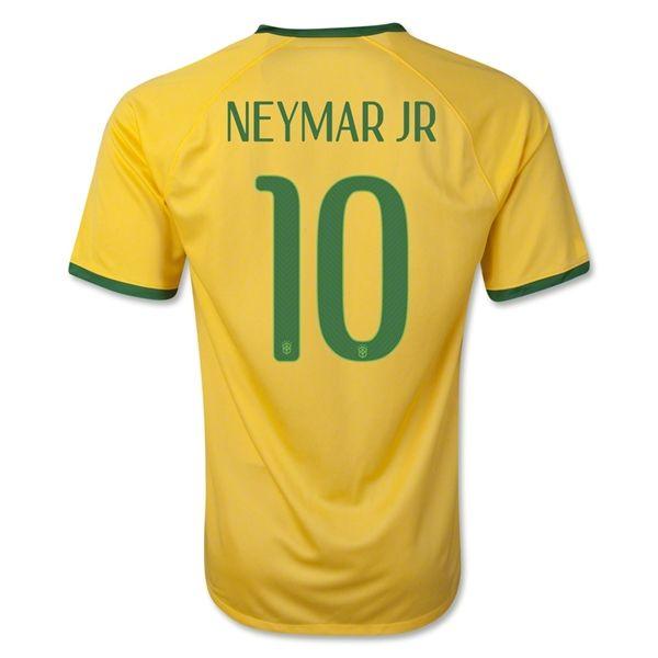 Maillot Foot de Coupe du Monde Ventes Brésil NEYMAR.JR 10 Domici2014