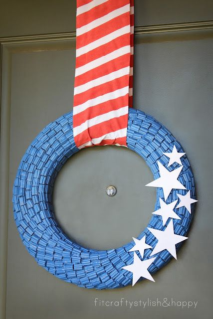 Fourth of July wreath made from Twizzler bites