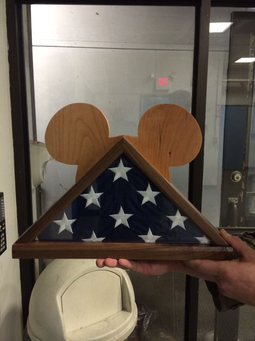 Mickey Mouse flag box