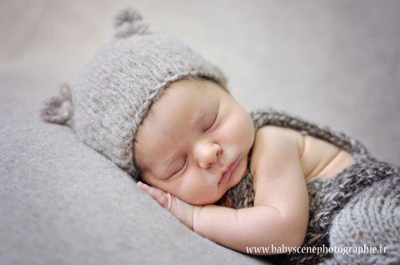 bonnet tricot bebe avec oreille