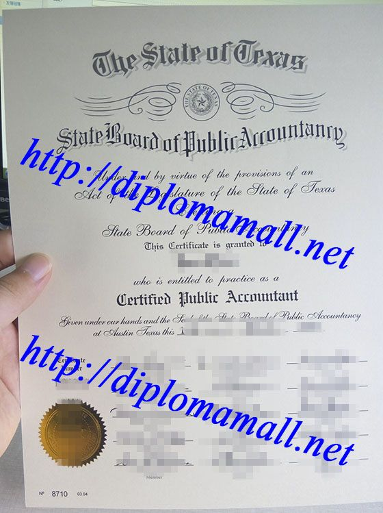 Texas certified public accountant (CPA) certificate buy degree - master or masters degree on resume
