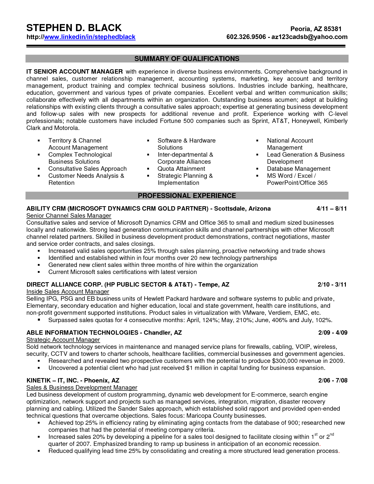 sales account executive resume radio cover accounting job tips ...