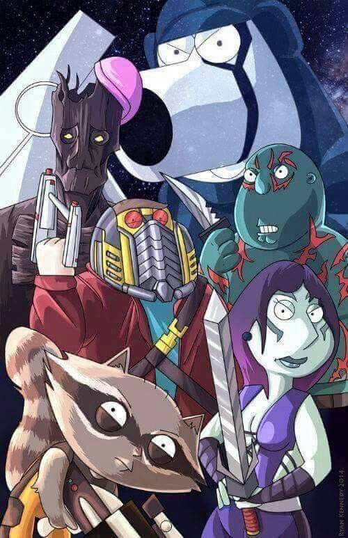 Family Guy Guardians of the Galaxy