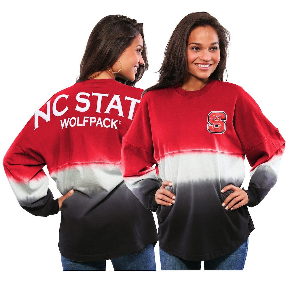 Nc state wolfpack womens ombre long sleeve dipdyed