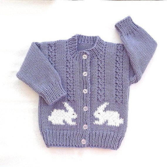6 12 months. This little bunny cardigan, knitted in a