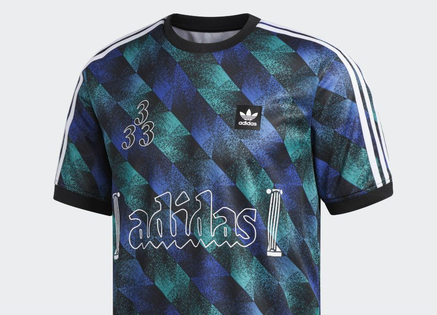 Adidas Towning Jersey Black Active Green Active Blue