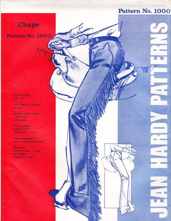 Western Chaps Sewing Pattern, Uncut | WESTERN SHIRTS | Pinterest ...