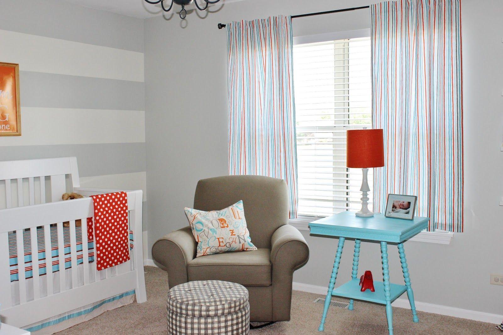 Nursery Rooms Enticing Grey White Stripe Room Design