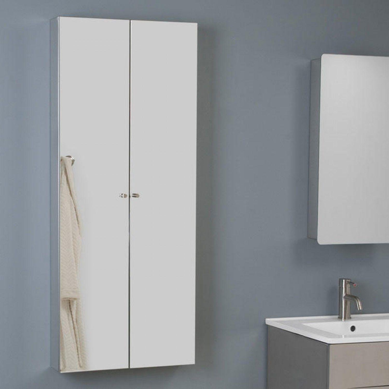 Crosstown Stainless Steel Double Door Medicine Cabinet With Mirror