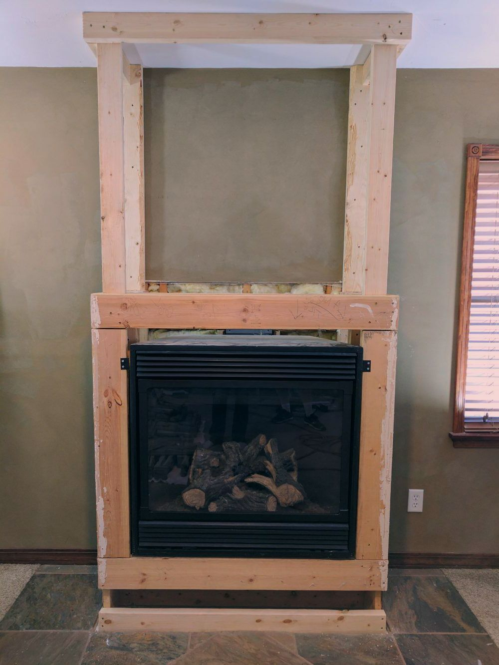 Stacked Stone Fireplace Remodel Stacked stone fireplaces