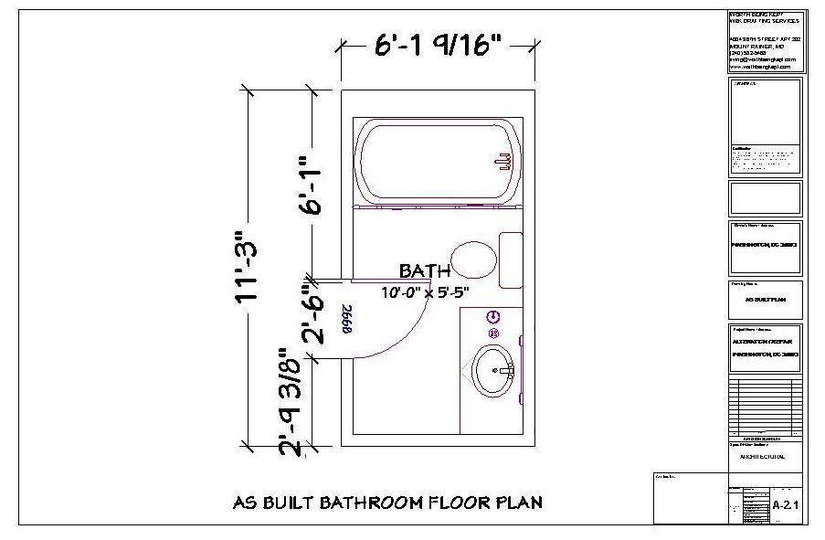Small Long Narrow Bathroom Floor Plans With Tub Small Bathroom