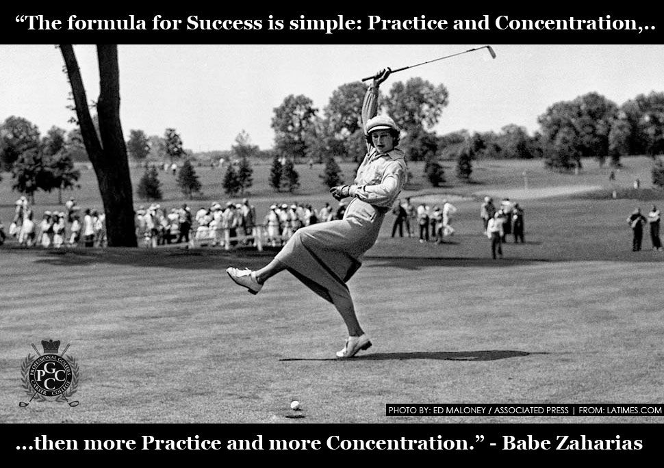 The formula for success is simple: practice and concentration, then