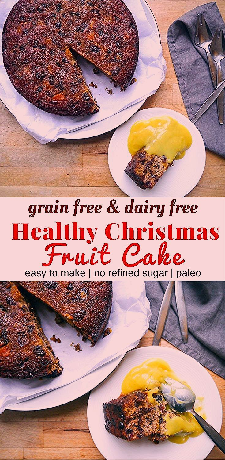 gluten free fruit cake with almond meal
