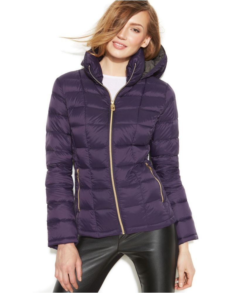 615de5f7b598 Michael Kors Women s Packable Hooded Quilted Down Coat (Petite Small ...