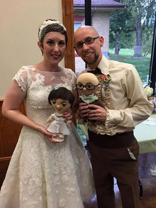 Unique Custom doll bride and groom -  Selfie doll,  caracter doll, rag doll, art doll, personalized doll