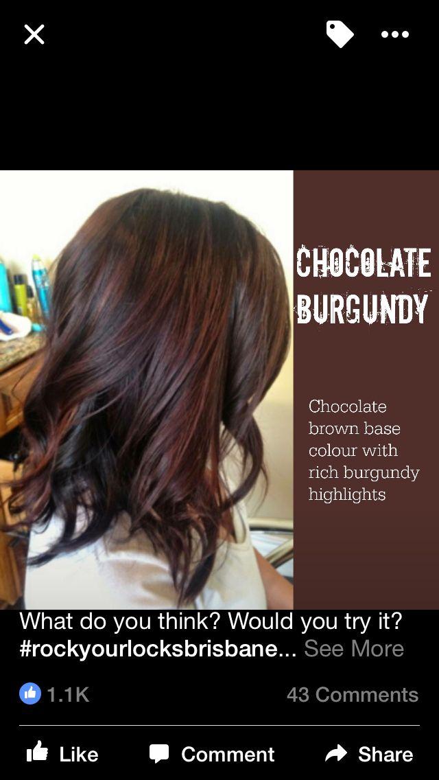 Brown With Mahogany Hair Color Mahogany Hair Color Chocolate
