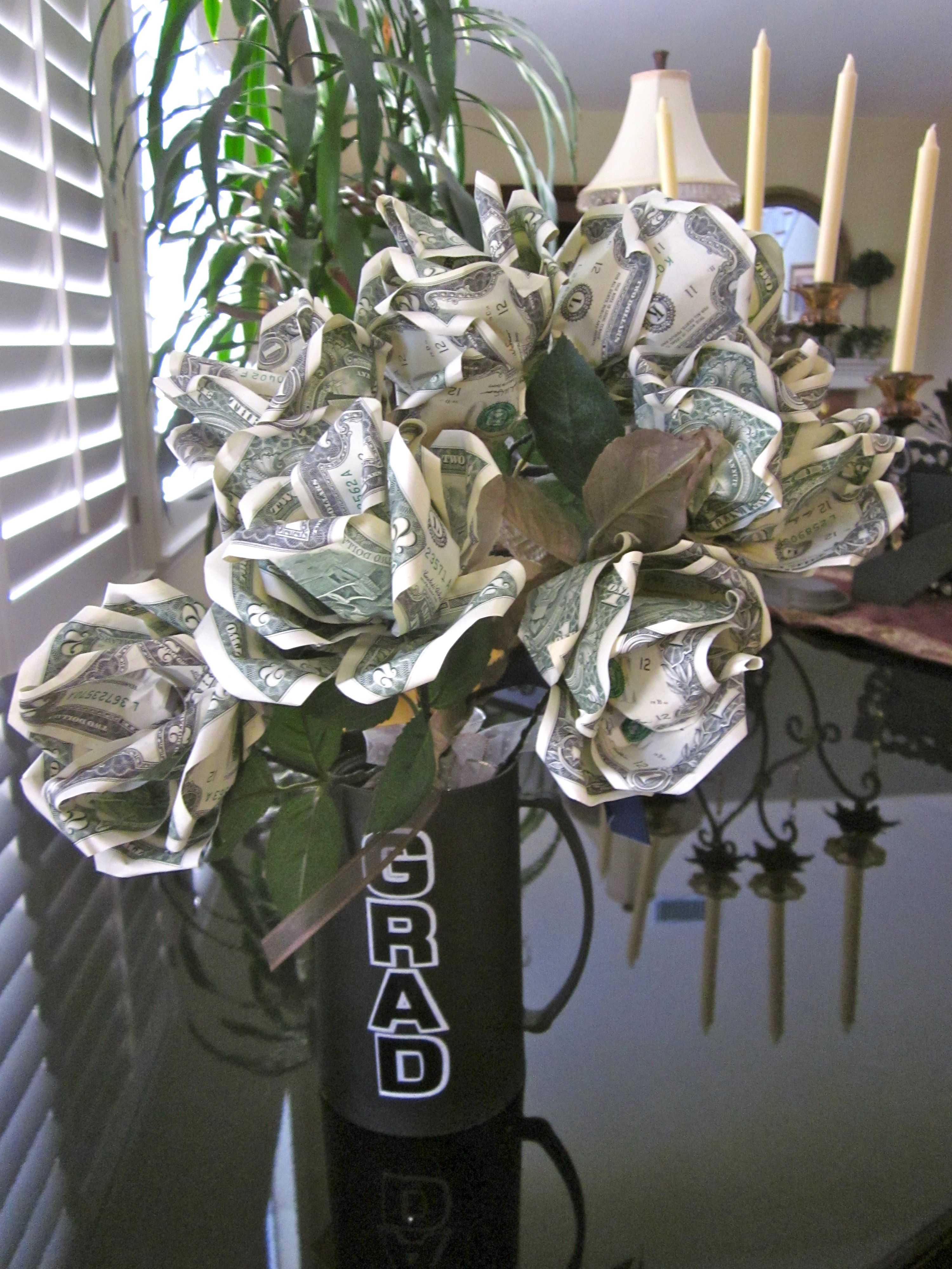 Graduation money rose bouquet things i love to make pinterest bouquet of money roses by pcbymarilyn on etsy dhlflorist Choice Image