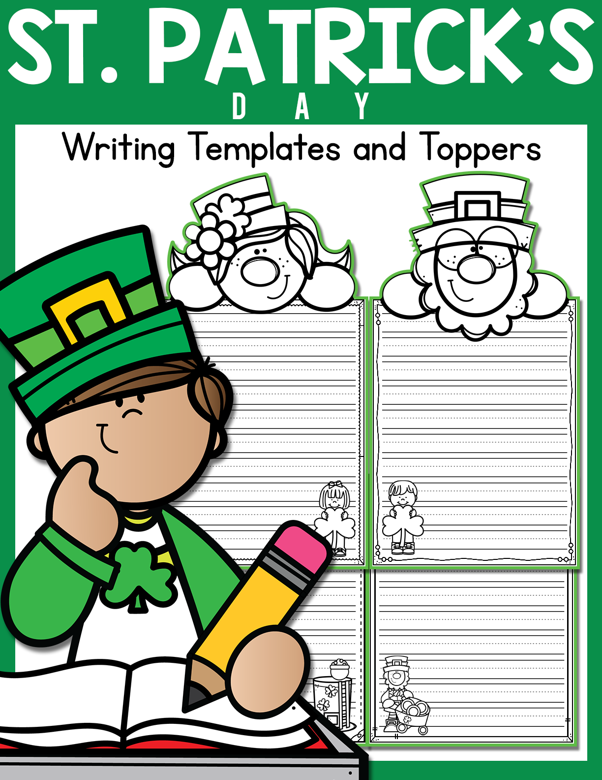 St Patrick S Day Writing Templates And Toppers In