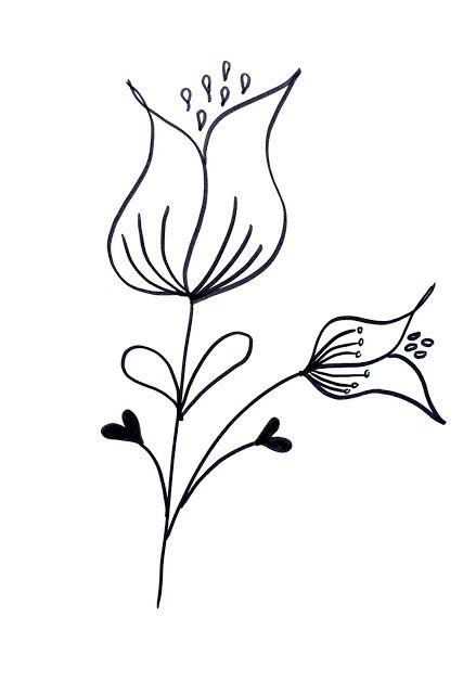 How To Draw Flowers 39 With Images Flower Drawing Simple
