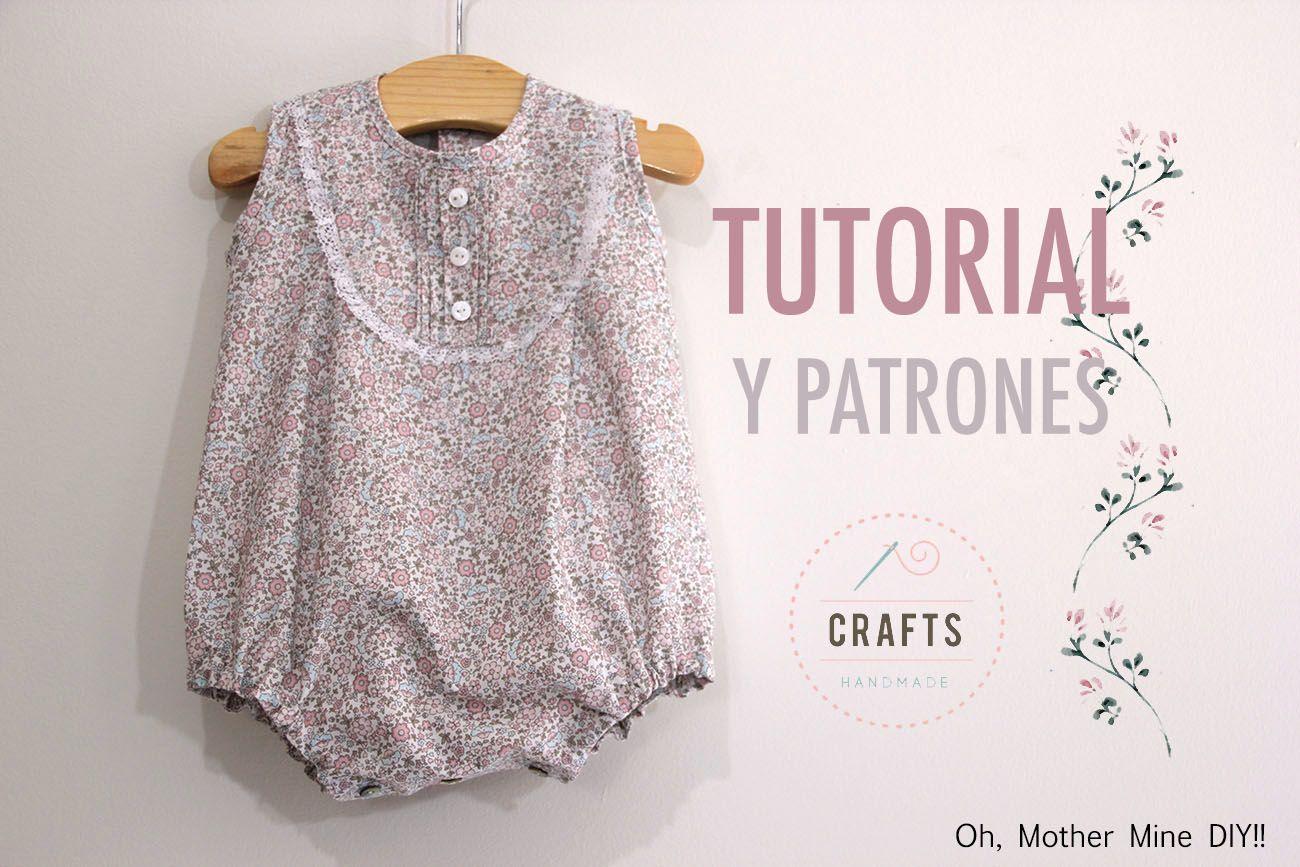 DIY Cómo hacer pelele para bebés (patrones gratis incluidos) | Ideas ...