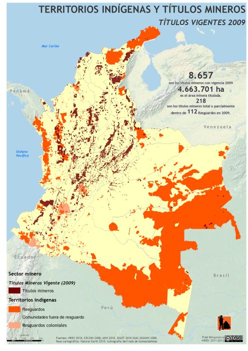 Mapa De Los Territorios Ind 237 Genas Y T 237 Tulos Mineros En