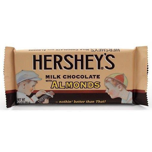 Hershey Chocolate Bar With Almonds Hershey Chocolate Hershey