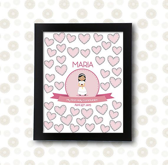 First Holy Communion Girl Sign In Page / Printable Pdf