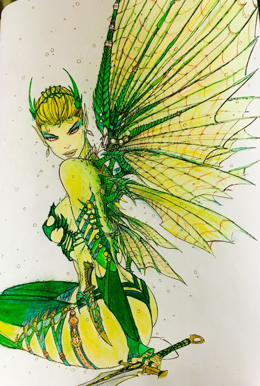 Tinker bell Disney coloring page color pencil | Art | Pinterest ...