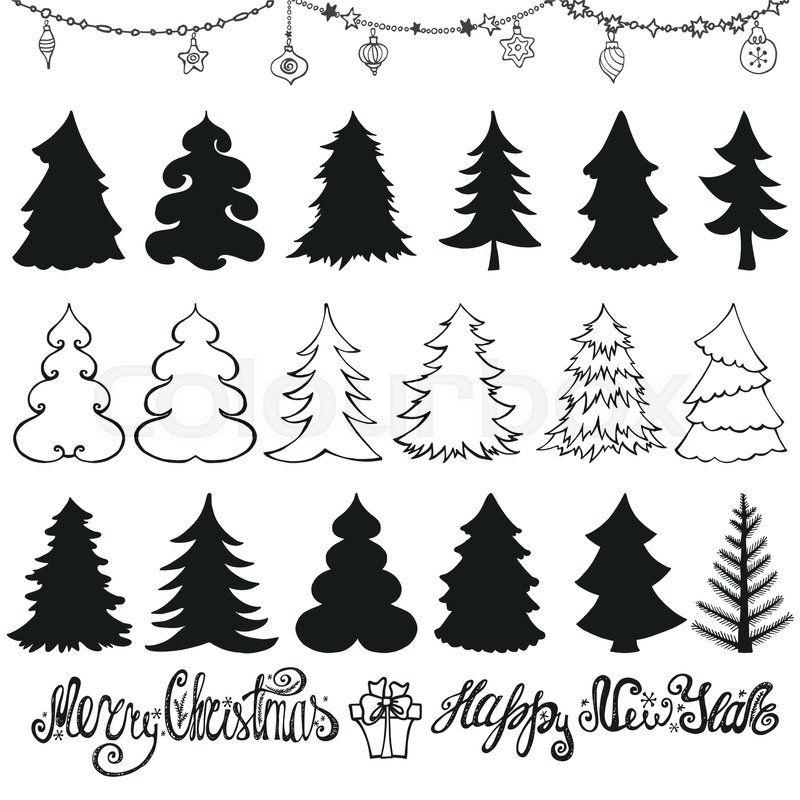 Christmas Tree Vector Graphic Christmas Tree Outline Christmas Tree Silhouette Christmas Tree