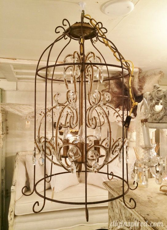 Upcycling And Repurposing Ideas For Lighting Antique Lighting Birdcage Chandelier Lighting
