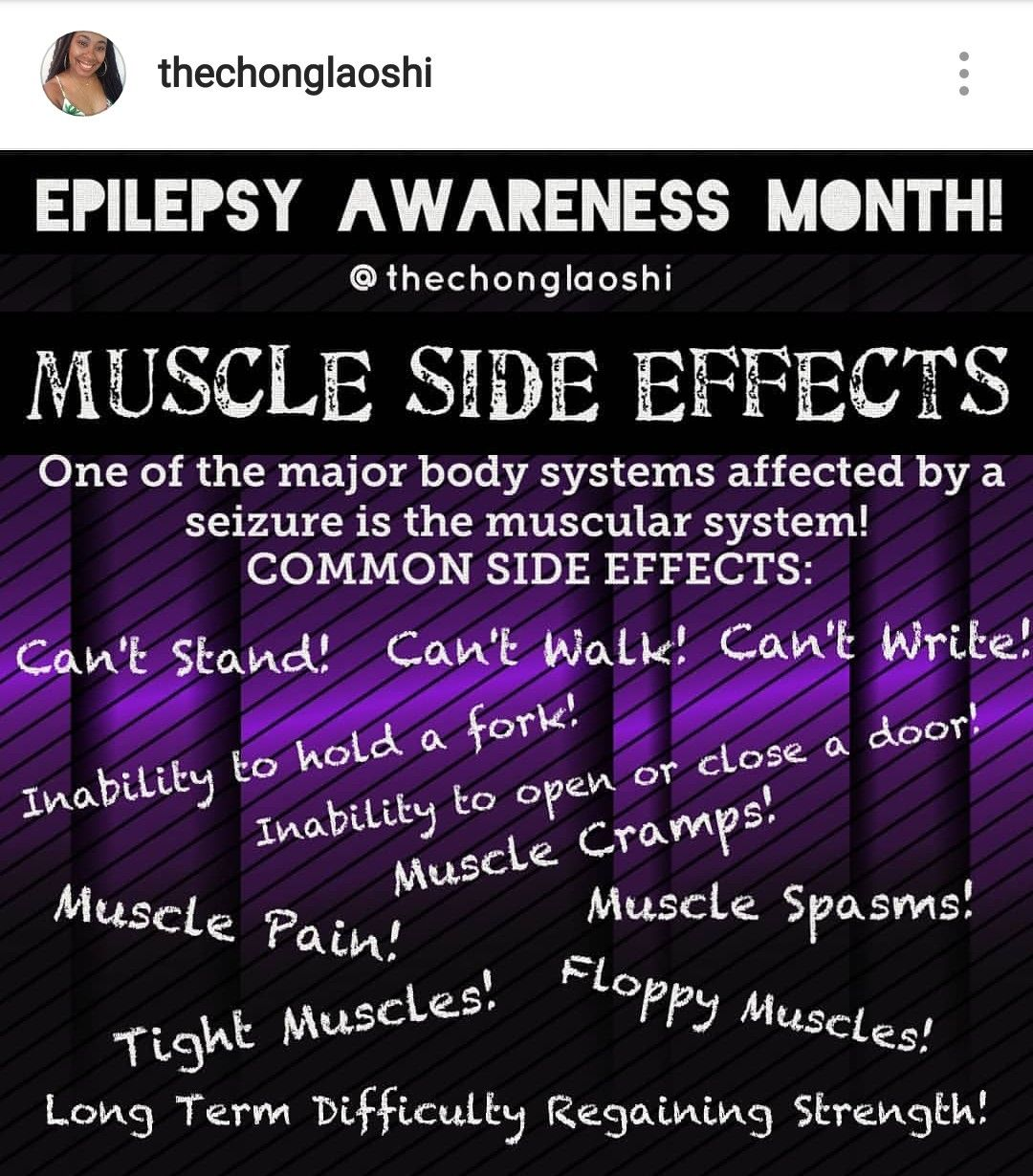 Muscle Side Effects Epilepsy Awareness Quotes Epilepsy Facts Epilepsy