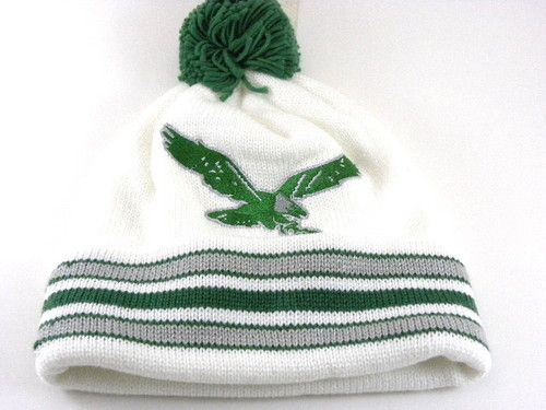 3305562d0 Philadelphia Eagles Throwback Winter Hat by Mitchell and Ness Skully ...