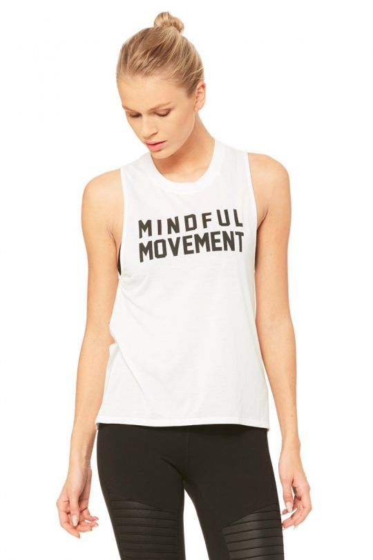54a690409b High Low Graphic Muscle Tank - Mindful Movement | Pure barre ...