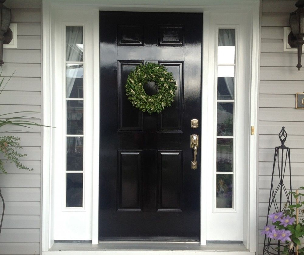 White Sidelights For A Black Front Door Mike Davies S Home