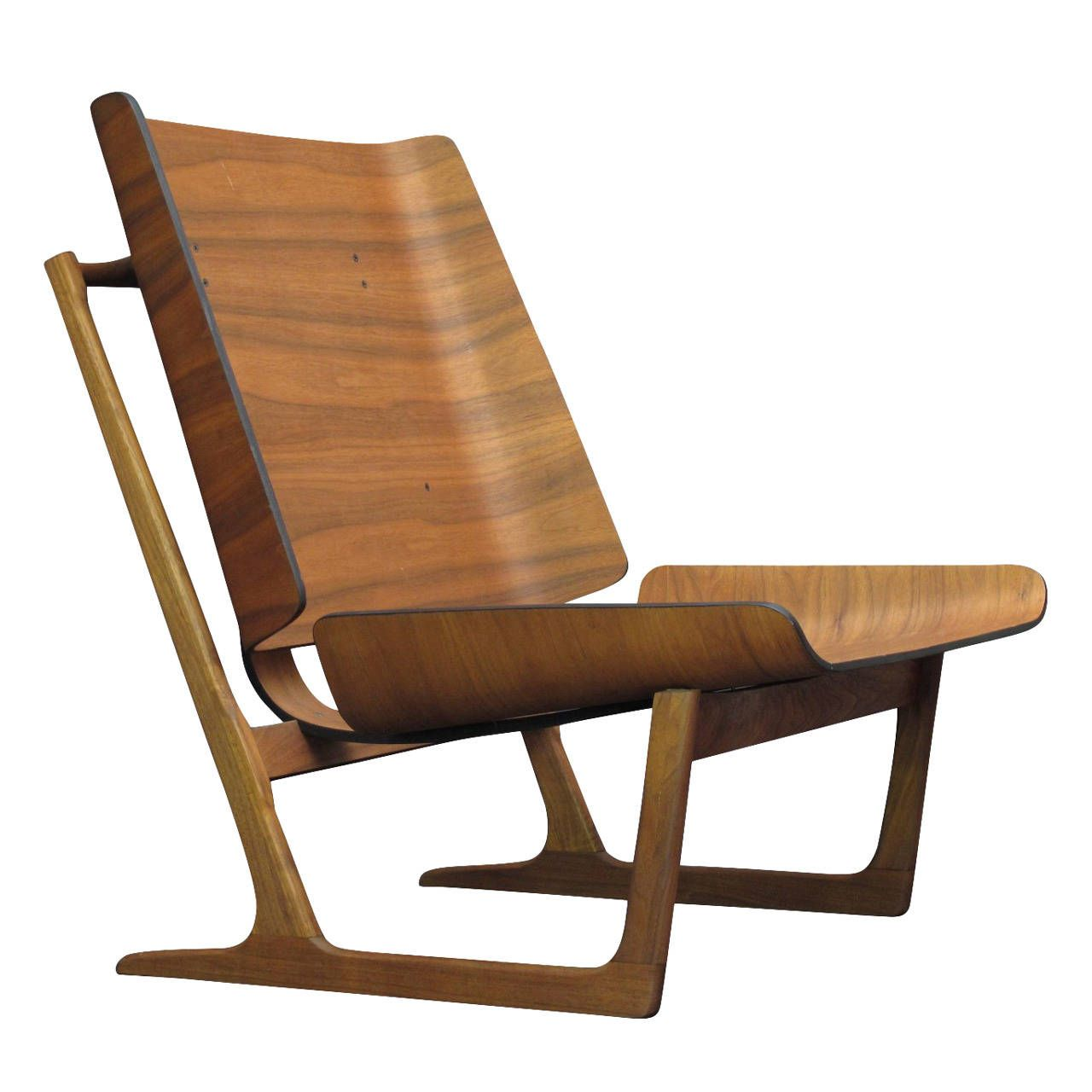 Antique lounge chairs - Grete Jalk Danish Walnut Lounge Chair