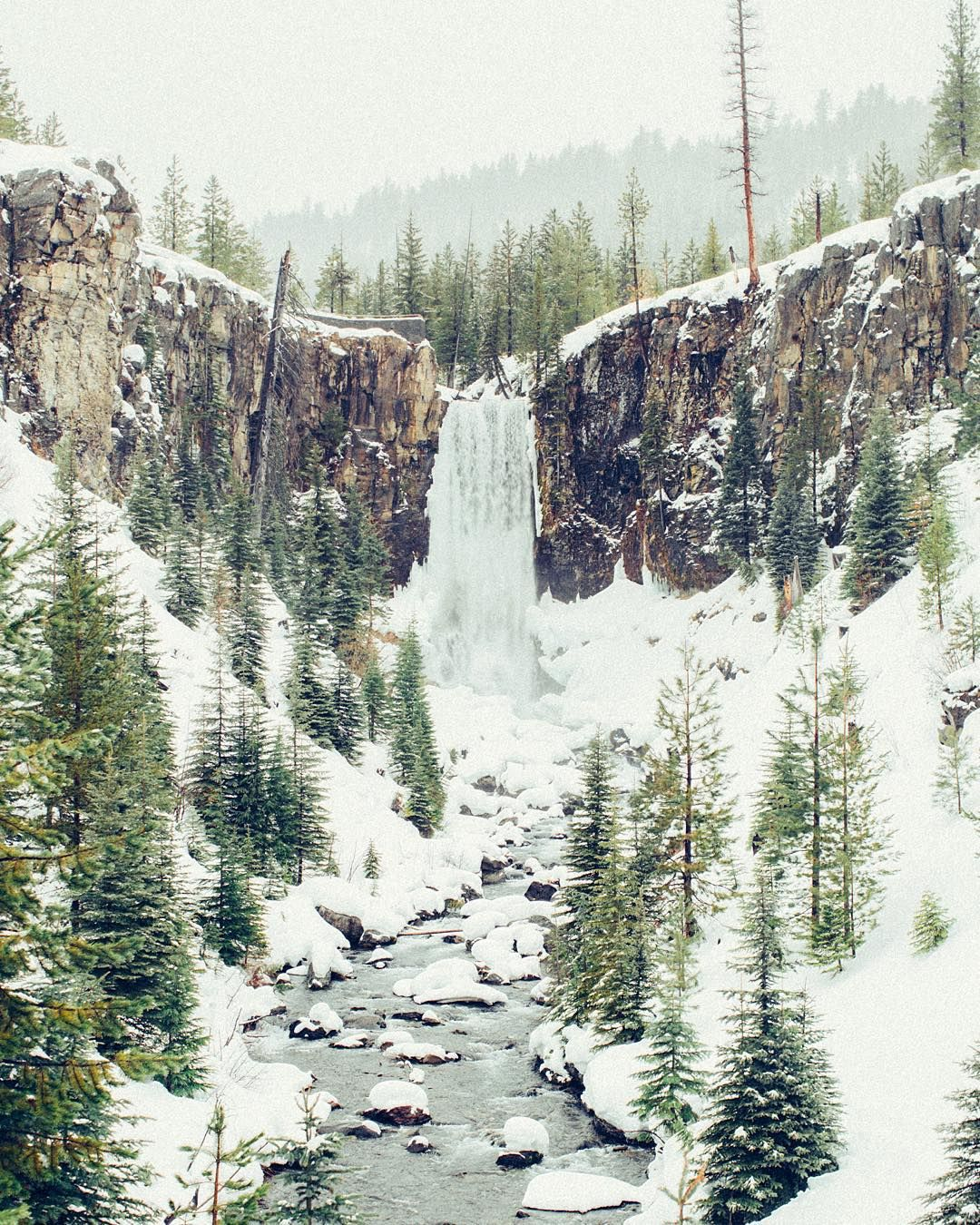 Slush walk snowball fight and wet pants. All worth it to come see Tumalo Falls in the winter. by hoxiesox