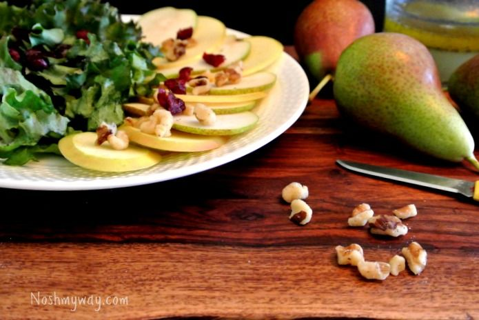 Pear and Apple Salad with Lemon Poppy Seed Vinaigrette Recipe