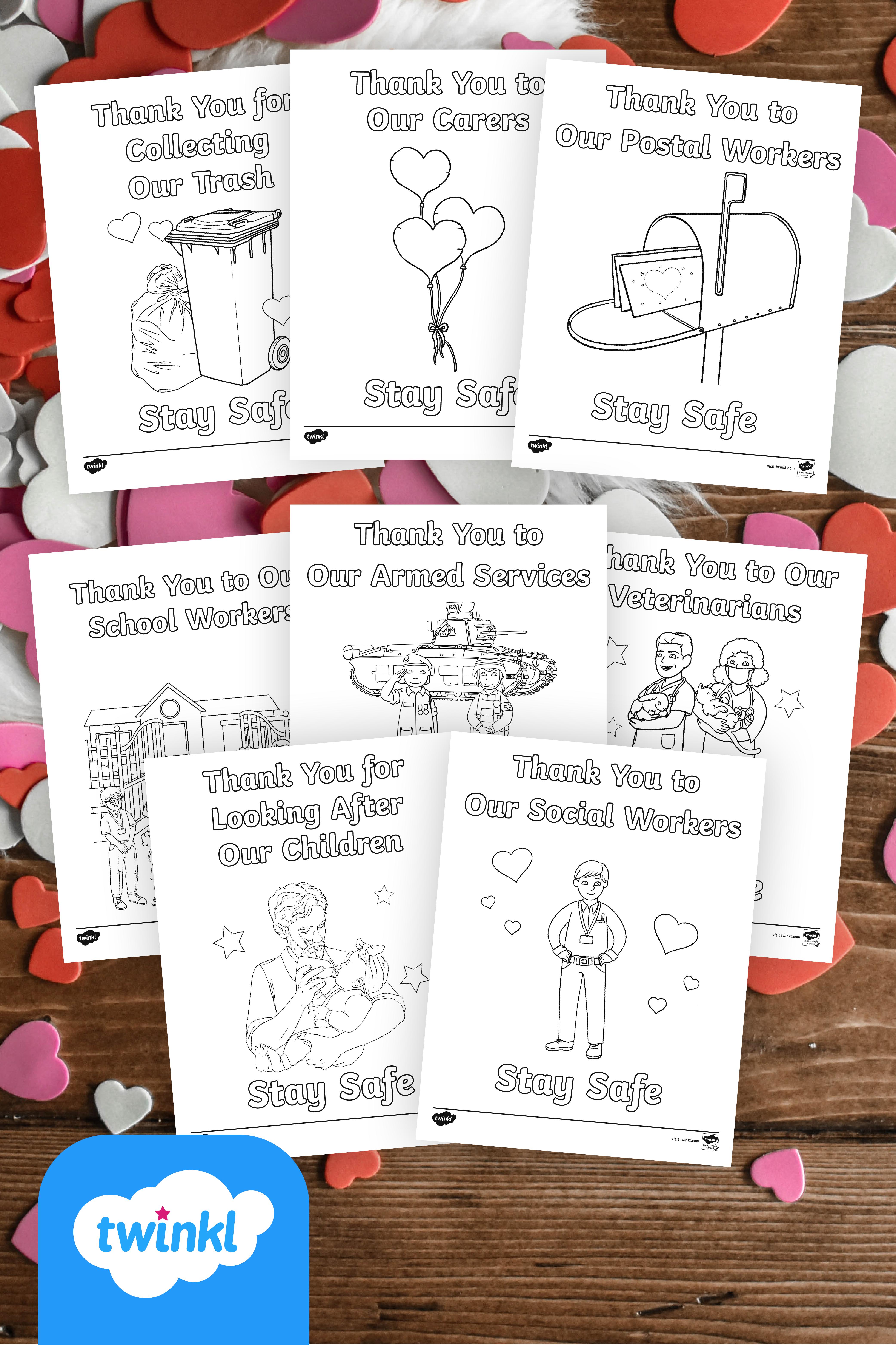 Thank You Essential Workers Coloring Sheets Preschool Units Themes Community Helpers Preschool Community Helpers