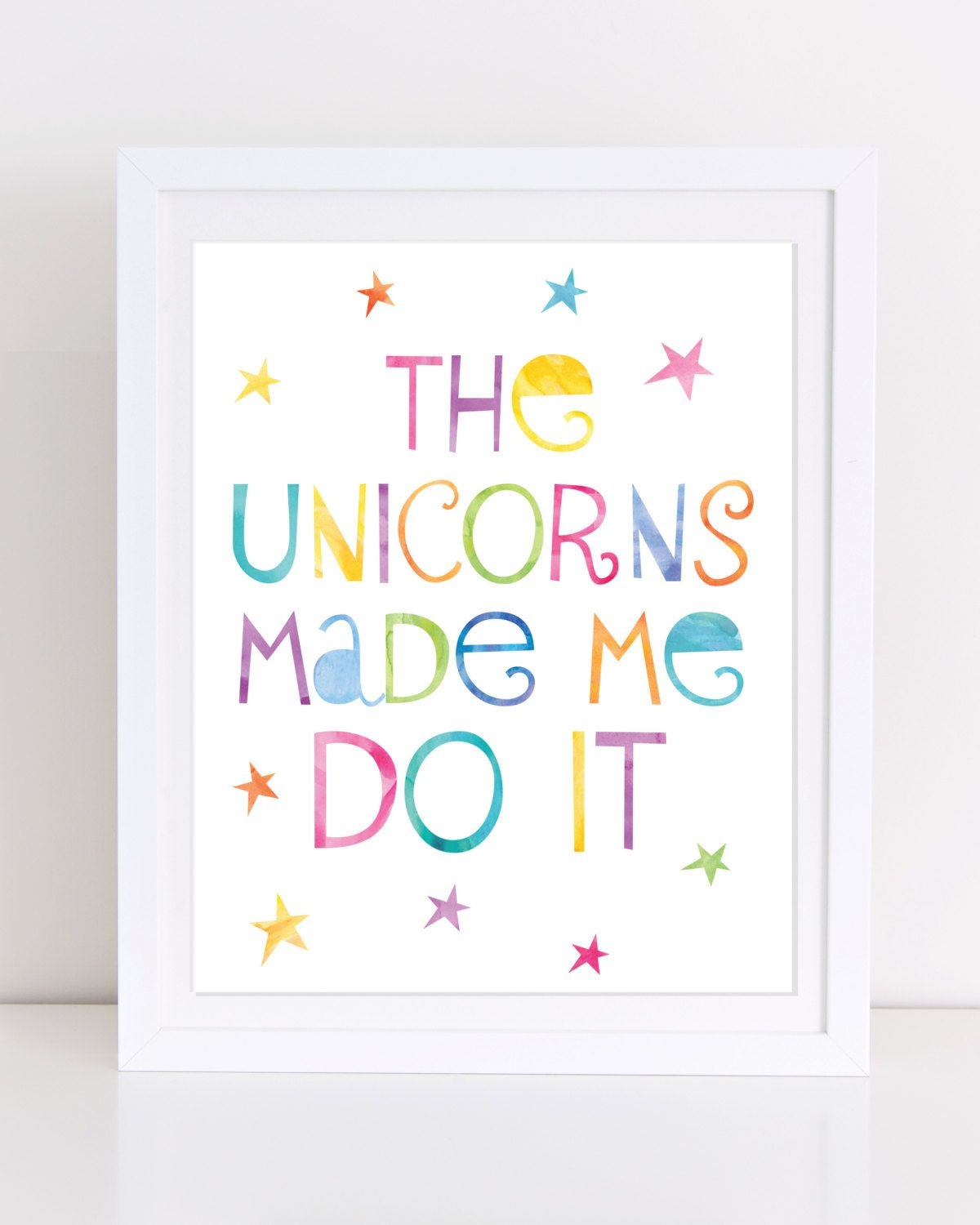 Unicorn Print Printable Wall Art Unicorn Printable The