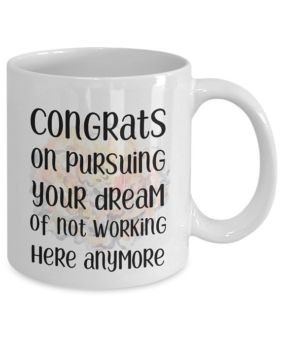6748892e3654 Funny Colleague coworker mugs gifts Congrats best coffee tea cup friend  Goodbye Leaving Farewell Goi