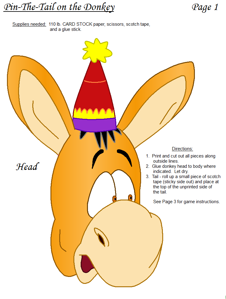 graphic relating to Pin the Tail on the Donkey Printable named Pin via maria smith upon Pin The Tail Online games Printable Little ones