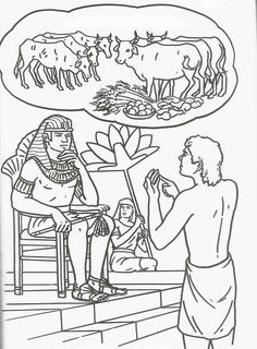 Joseph S Dreams Coloring Page Sunday School Activities Sunday