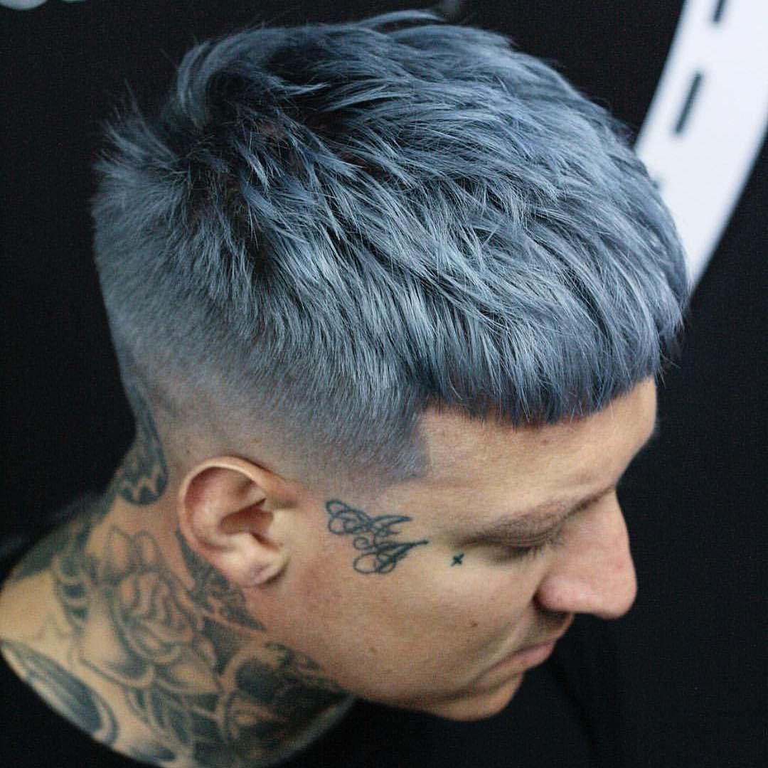 dark warm grey hair color men