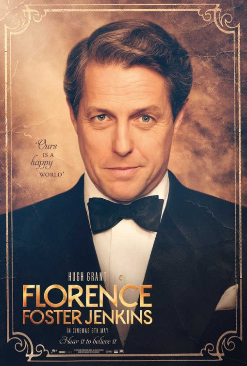 Florence Foster Jenkins movie poster featuring Hugh Grant