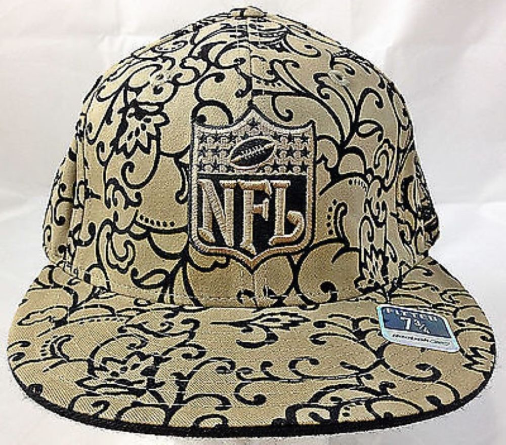 Nfl Logo Fitted Flat Bill Flocked Design Reebok Hat Size 7 3 4 Fashion Clothing Shoes Accessories Mensaccessories Hats Ebay Li Nfl Logo Hats Hat Sizes
