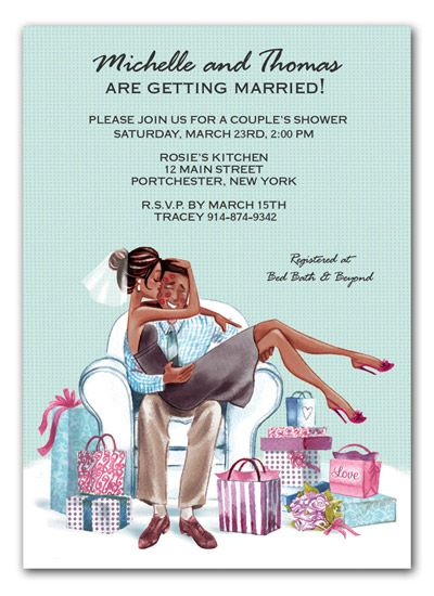 cute wedding shower invitation